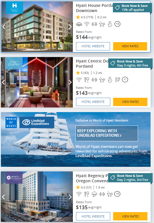 get a free night or up to 15% off Hyatt summer promotion