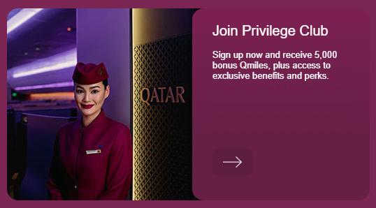 Qatar new member bonus email banner
